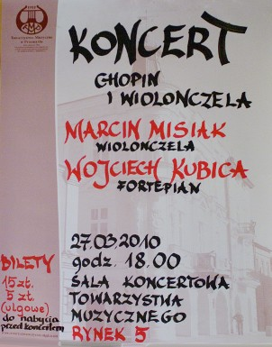 Koncert Chopin i wiolonczela Marcin Misiak Wojciech Kubica